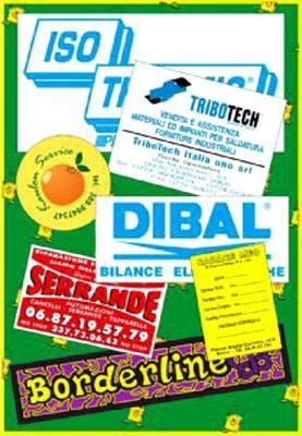 adesivi in serigrafia