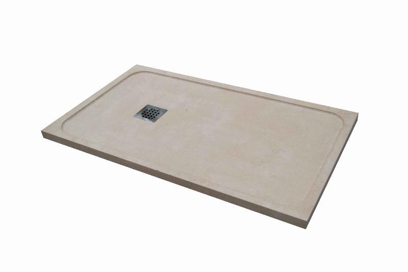Fabricamos platos de ducha extraplanos en piedra natural,antideslizantes, a medida.Plato realizado en caliza blanca de 3 cm
