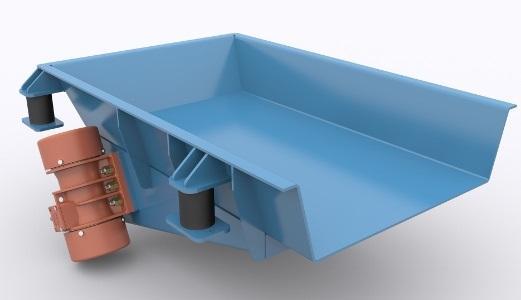 Podajnik wibracyjny bezwładnosciowy płaski