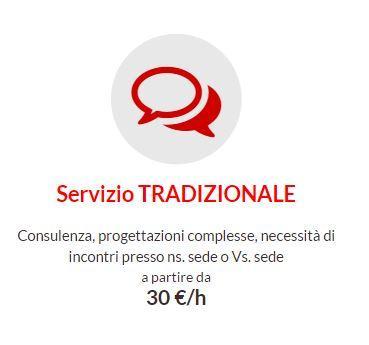 Consulenza, progettazioni complesse, necessità di incontri presso ns. sede o Vs. sede a partire da 30 €/h