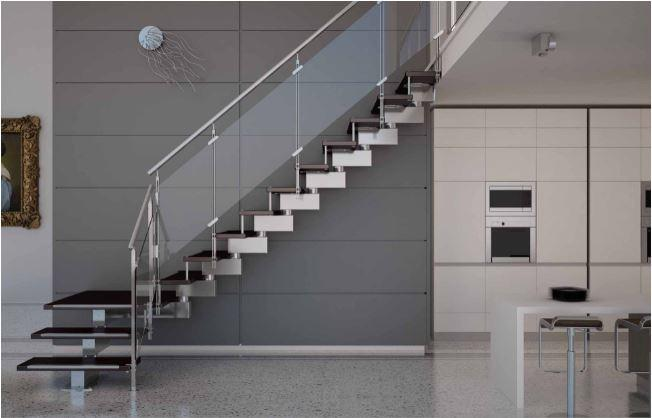 Glass Railing with Stainless Steel Fittings