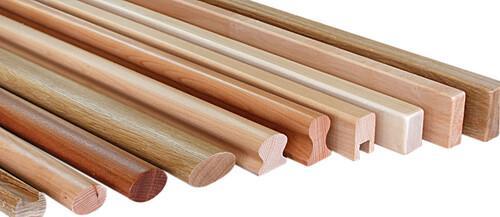 Handläufe aus Massivholz, viele Formen