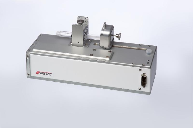 The Symax Syringe Pump is used to meter fluids in micro or nano litre quantities and features a stepper motor drive, precision carriage, syringe holder set and replaceable syringes.