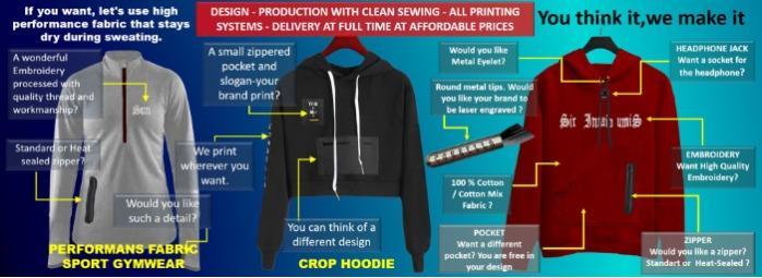 Custom production wholesale t-shirt-hoodie-shorts