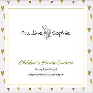 Catalog of children's haute couture from the spanish firm Pauline Sophie.To see the catalog click the link, https://www.paulinesophie.com/gb/content/catalogue.html