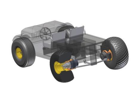 Radnabengetriebe mit Scheibenläufermotor