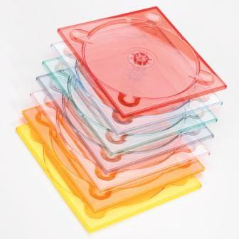 Digitray CD pour 1 disque. Plateau CD standard disponible en transparent ou en couleur. 137.4 x 124.8 x 4.2 mm. Cale pour CD-ROM format audio. Collage sur support cartonné en automatique.