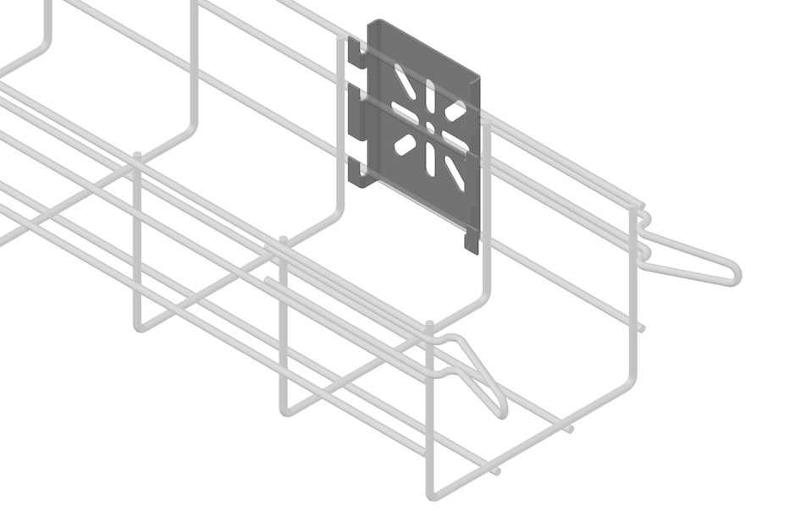Derivation box support for EC100 EASYCONNECT basket trays.