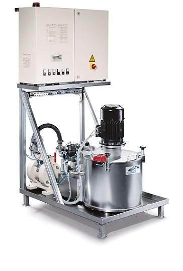 Leistung: 5,5 kW, Rotor-Volumen: 15 l, Schlamm-Kapazität: 12 kg, Volumenstrom: 200 l/min, selbstansaugend, Schälrohr Förderhöhe 5 m, Direktantrieb,Doppelmantelgehäuse,  3-Phasen Version möglich