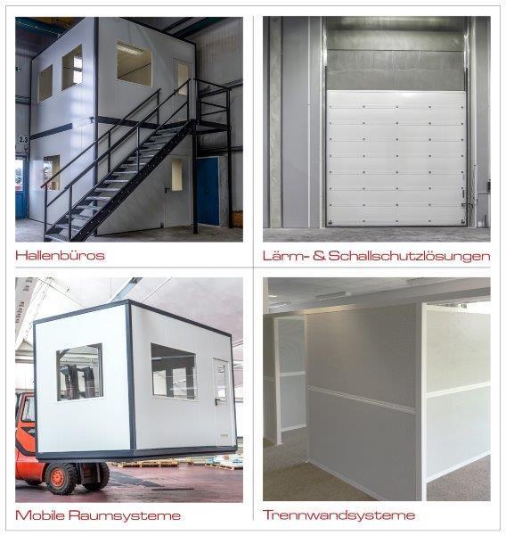 Doppelgeschossiges Hallenbüro mit Bühne ink. Lieferung und Montage.