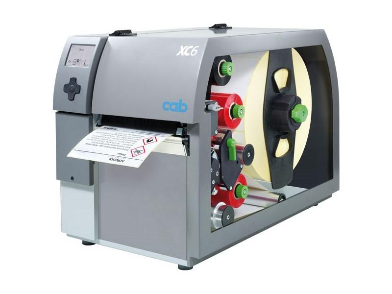Impressora industrial de duas cores CAB XC6+.