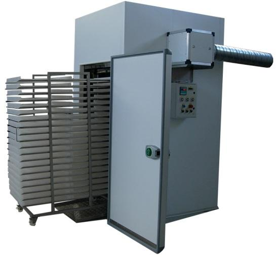 Plants with heating and air dehumidification system and save Energy consumption. Ideal for working fruits, vegetables, pollen, herbs and medicinal plants, fish, meats, cheeses