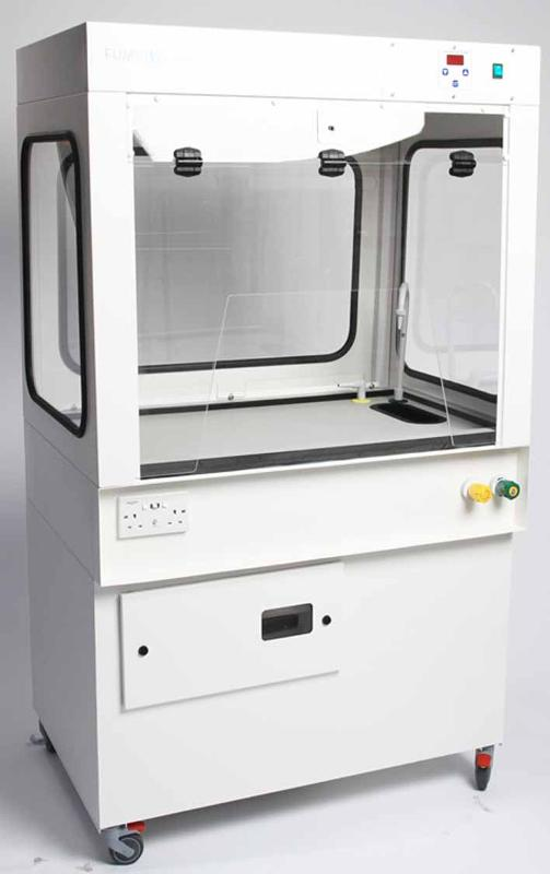 The Graduate is a mobile Fume Cupboard with all-round viewing windows. This makes it ideal for demonstration purposes and laboratories requiring a unit that is easily manoeuvred.