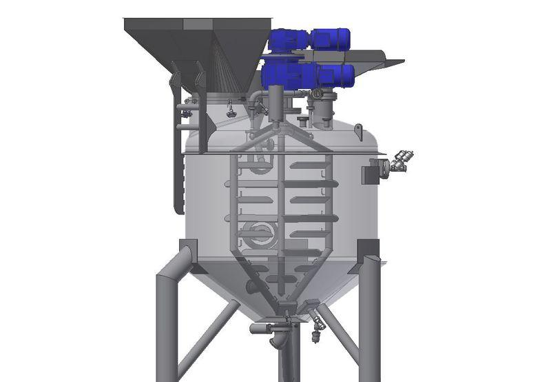 Process plant with Agitator