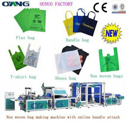 ONL-XC700machine de sac non-tissé avec anses collé en automatique
