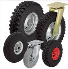 Comercializamos mais de 30.000 Rodas e Rodízios standard, com capacidades de carga desde 15kg até 50Ton por roda!
