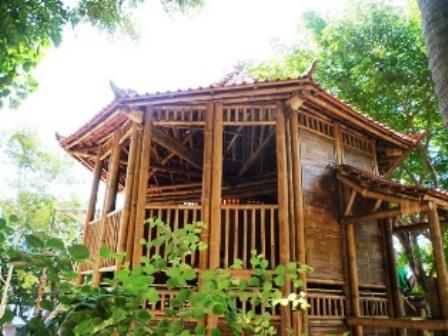 Balcon terrasse en bambou