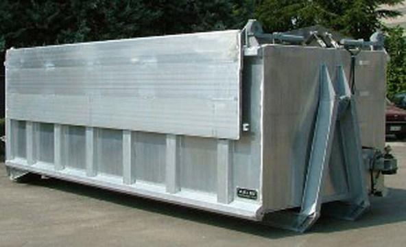 Container in alluminio completo di coperchi adatto per il trasporto ad alto rischio