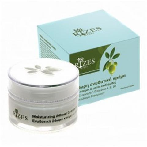 Rizes Crete 24hour Moisturizing Cream For Oily & Combination Skin With Olive Oil, Vitamins A, E, B5 & Grape Extract