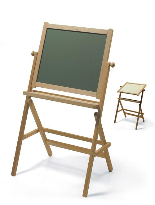 Kid's easel with chalk-board, erase-board. Constructed of natural stain beech wood, without varnish or oil. With safe blackboard panels, unbreakable,guaranteed 12 years.It features a shelf for storage