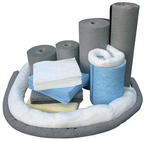 Absorbants tous liquides en fibre polypropylène. Feuille, rouleau, boudin, ...