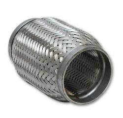 """Manufactured in size range 1-1/2' to 4"""" nominal bore and in lengths ranging from 4"""" to 15"""". Available with braid lining and interlock lining inside."""