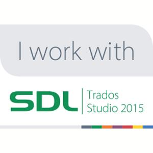 We work with SDL Trados Studio 2015