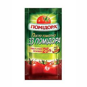 Tomato paste 33 Pomidora 25% brix