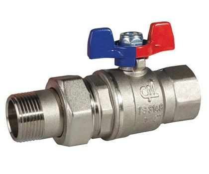 Butterfly Handle Ball Valve with Union