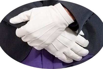 Lundorf white officers gloves