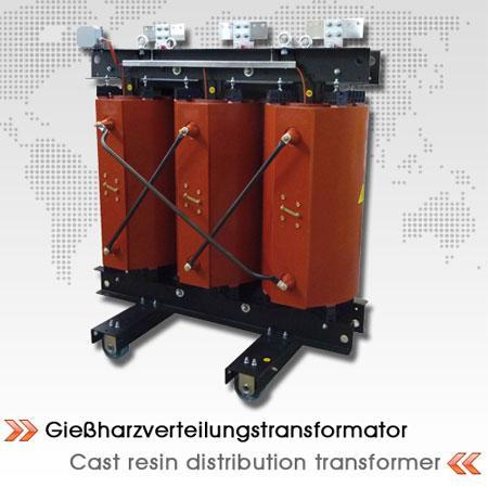Cast resin distribution transformer