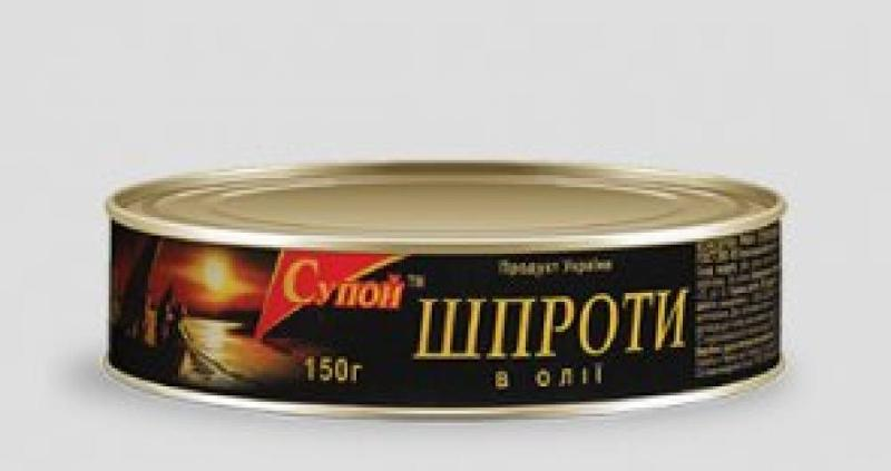 Сanned sprats and hand packed fish (sprats' group).
