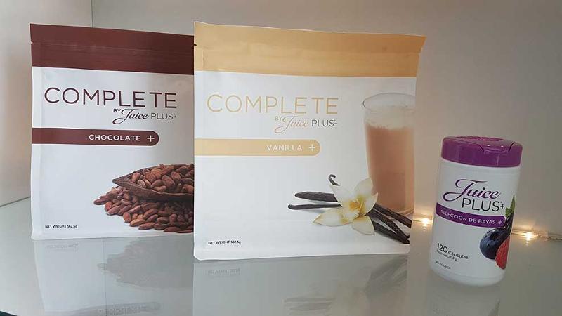 Este programa está compuesto por Juice PLUS+ Complete y Juice Plus Premium Cápsulas de bayas.
