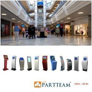 Quiosques Multimédia para centros comerciais e grandes superfícies comerciais