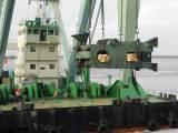 Heavy discharging from barge and loading on mafi trailer