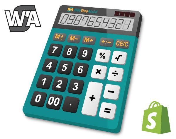 Calculator Cost pentru Shopify