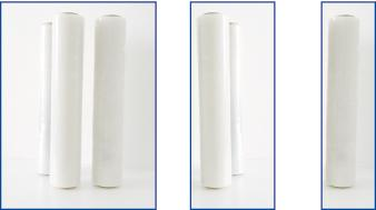 Film étirable à usage manuel cast collant en poyéthylène avec mandrin standarisé aux dimensions internationales et réalisé par coextrusion simultané des trois couches différentes. Le film étirable en