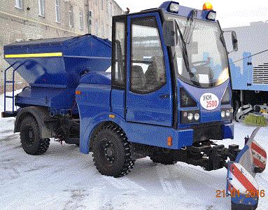 Машина универсальная УКМ-2500 предназначена для выполнения комплекса работ по круглогодичному содержанию и уборке городских территорий, и в зависимости от вида установленного навесного оборудования м