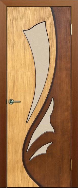Lucia. Door skeleton is made of solid pine, honeycomb corestock. Door leaf is milled and oak veneered. Surface course is emission-free water-based lacquer.