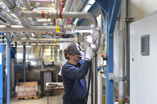 Reparaturen von Industrieanlagen