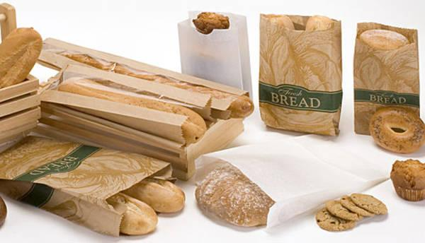 Paper bags for bakery can be made on white or brown craft. Printing available.