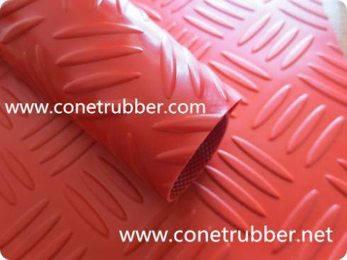 sheet rubber,checker, anti-slip.rubber matting, cow horse rubber mat, fine ribbe
