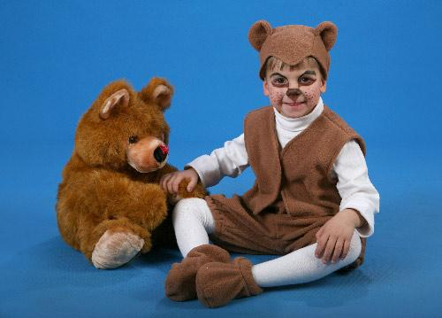 Fleece carnival costume Bear (Height 128 cm)