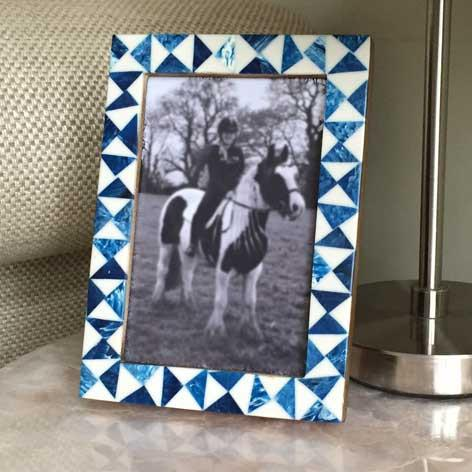 Bone Aqua Picture Frame