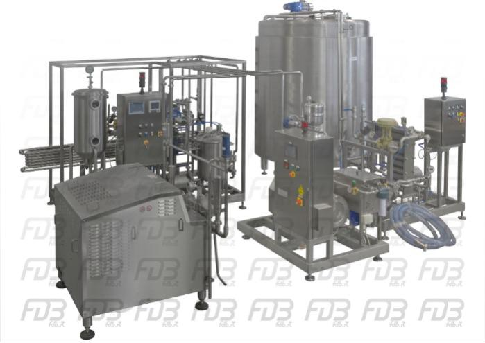 Pasteurizer HTST2500 + homogenizer and 2500 milk tank