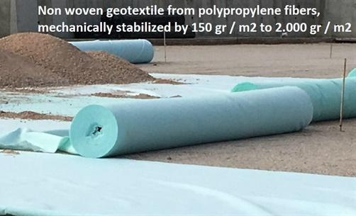 Production of non-woven geotextiles