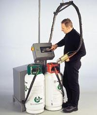 Injection system with polyurethane froth foam
