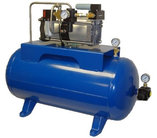 Maximator Air Amplifiers are designed to boost plant air pressure or increase the supply air pressure at work stations and pneumatically operated machinery when the available working pressure is low.