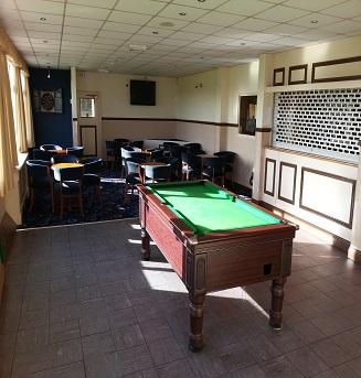 Pool table, dartboard, large television and bar! Overlooks our main cricket pitch.