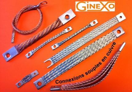 Connexions souples tresses cuivre-tresses de masse